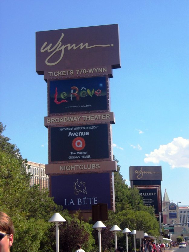 Wynn sign Las Vegas