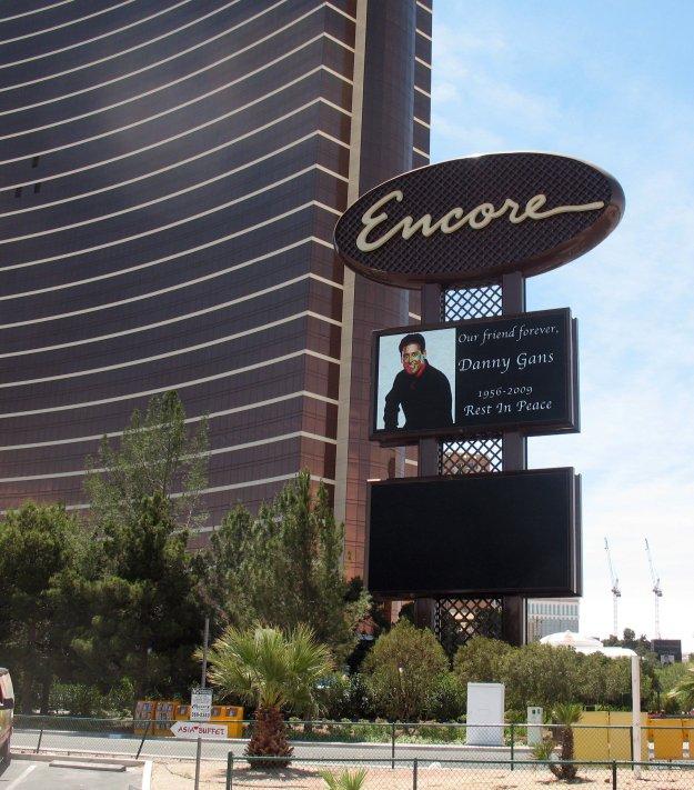 Encore dark marquee Danny Gans Las Vegas