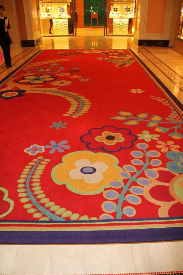 Wynn carpet Macao China