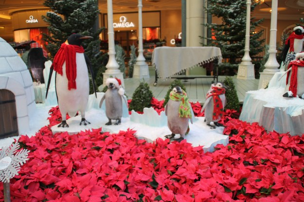 Bellagio conservatory Christmas penguins