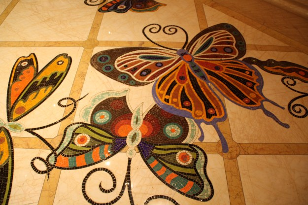 Encore tile butterflies