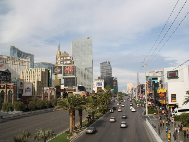 Las Vegas Strip from MGM Pedestrian Bridge