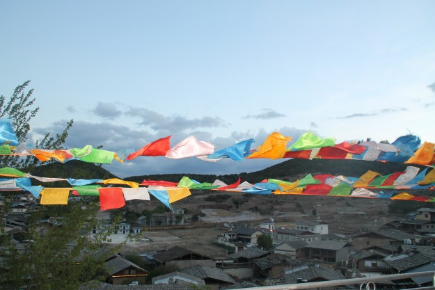 Prayer Flags over Shangrila China