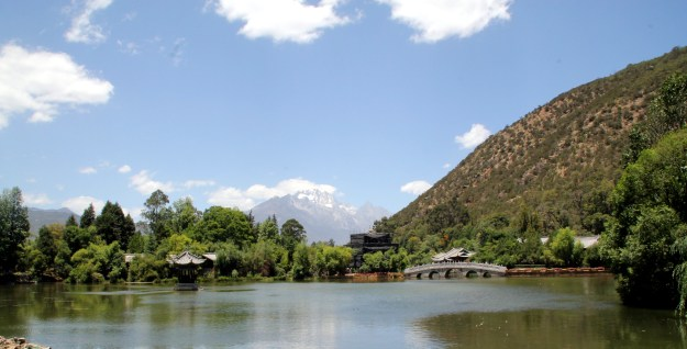 black dragon pool in lijiang china