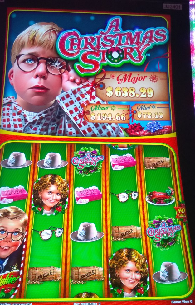 christmas story slot machine