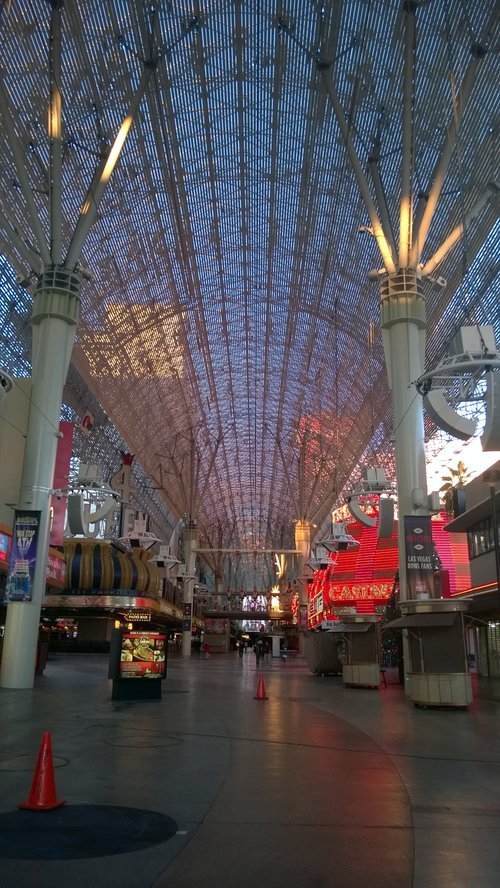 early morning fremont street las vegas