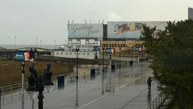 atlantic city new jersey rainy boardwalk