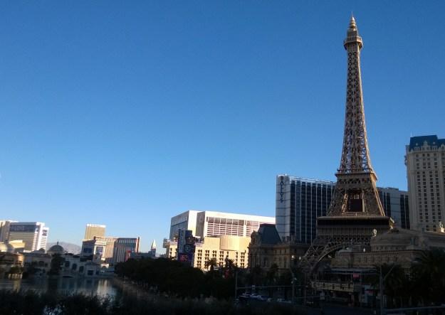 Las Vegas Strip Paris from Bellagio