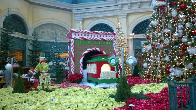 bellagio las vegas christmas conservatory north pole