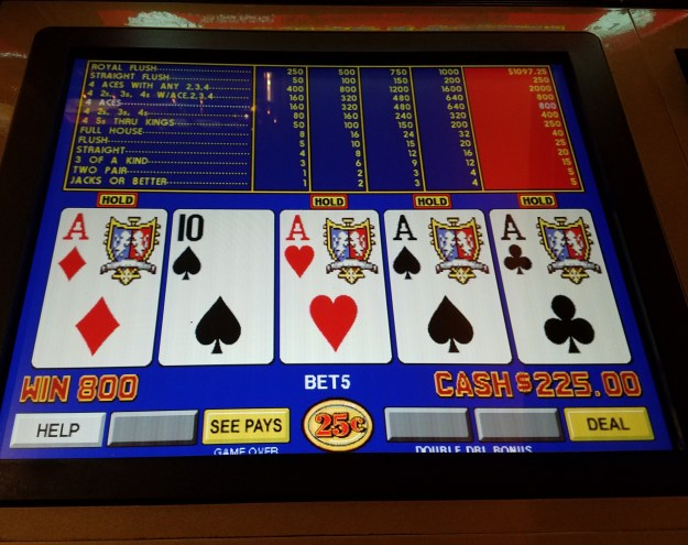 dealt quarter aces sams town