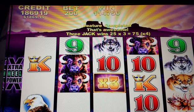 buffalo slot machine 114750 win