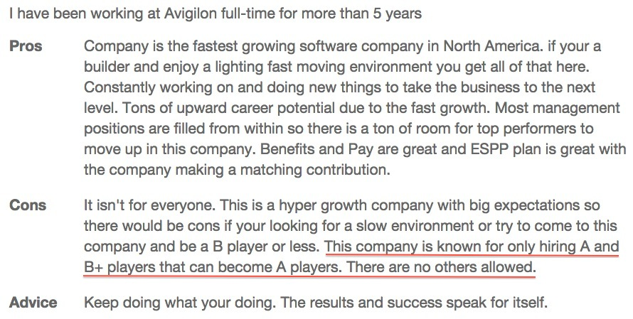 Avigilon Employee Reviews - employee review