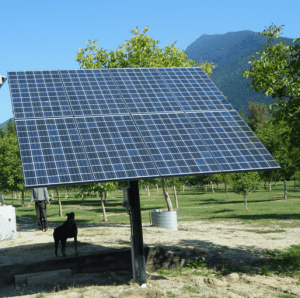 Pole Mounted Solar Panels for Small Home Solar Kits