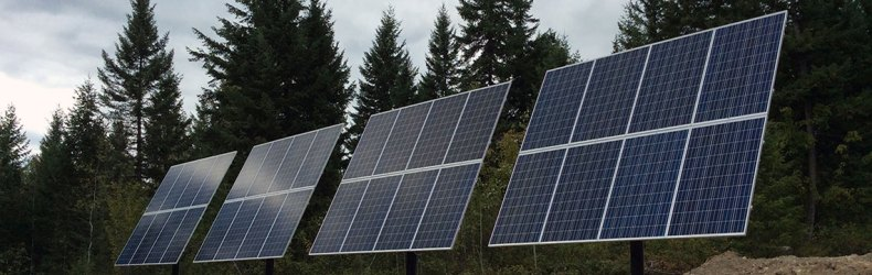 Solar panels installed by IPS Integrated Power Systems of West Kelowna BC