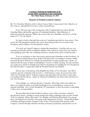 Executive Materials Twenty-Fifth Amendment Archive Fordham Law