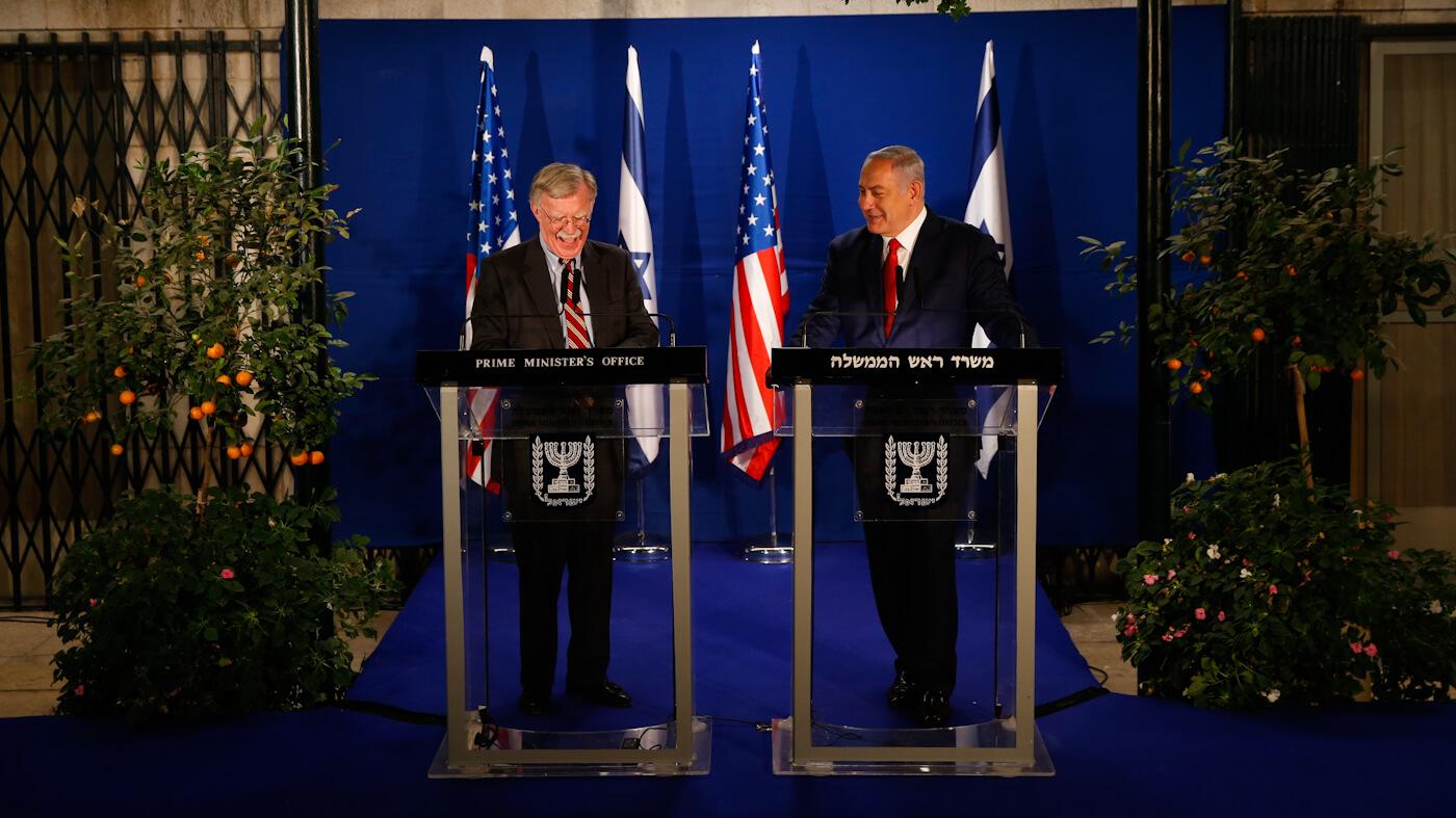 Ap Edited Fit 787 Ssl Israel  Golan Stake Netanyahu Bolton Set