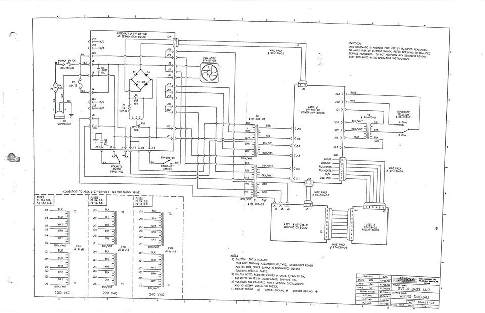 block diagram with preamp