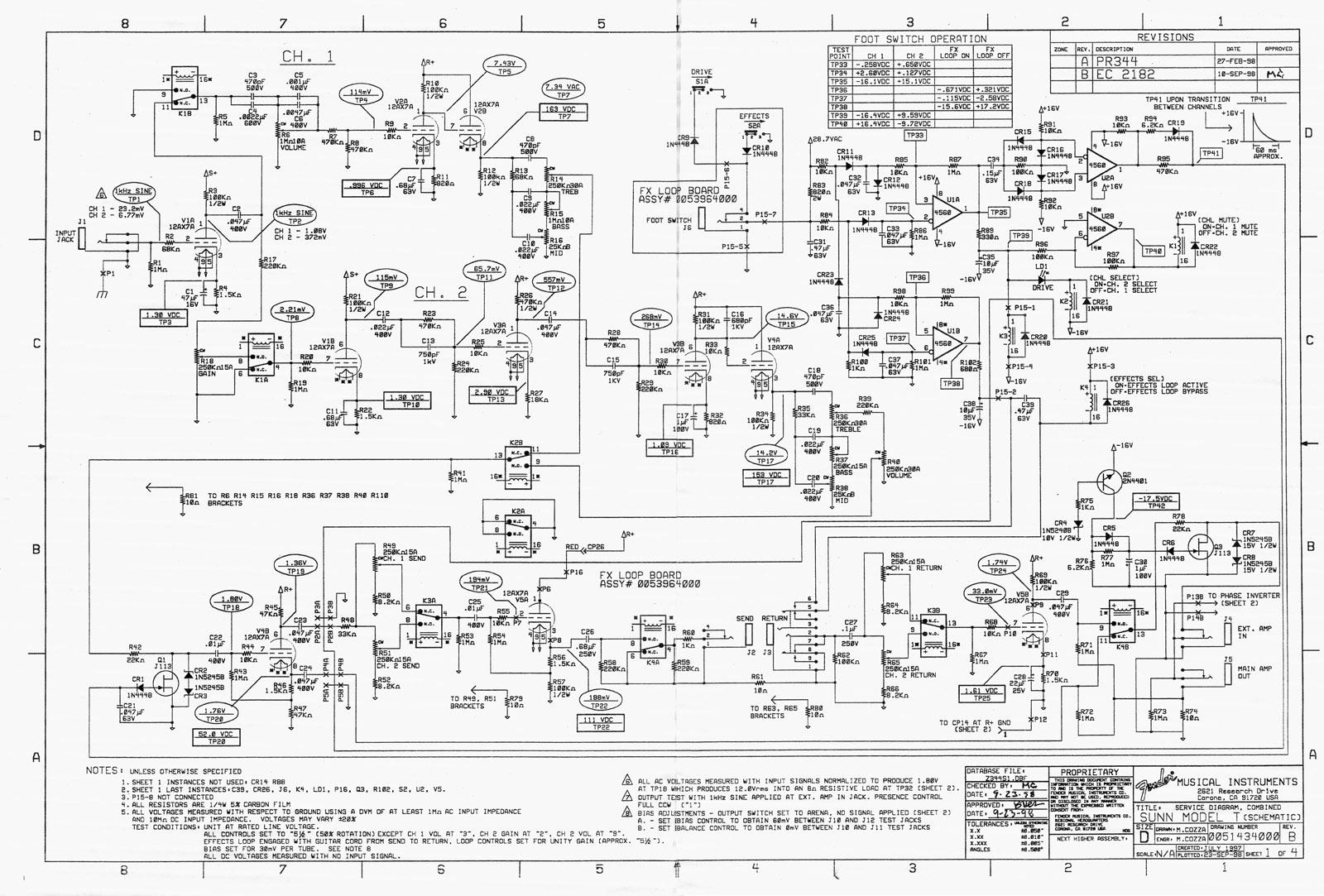 sunn amp schematics
