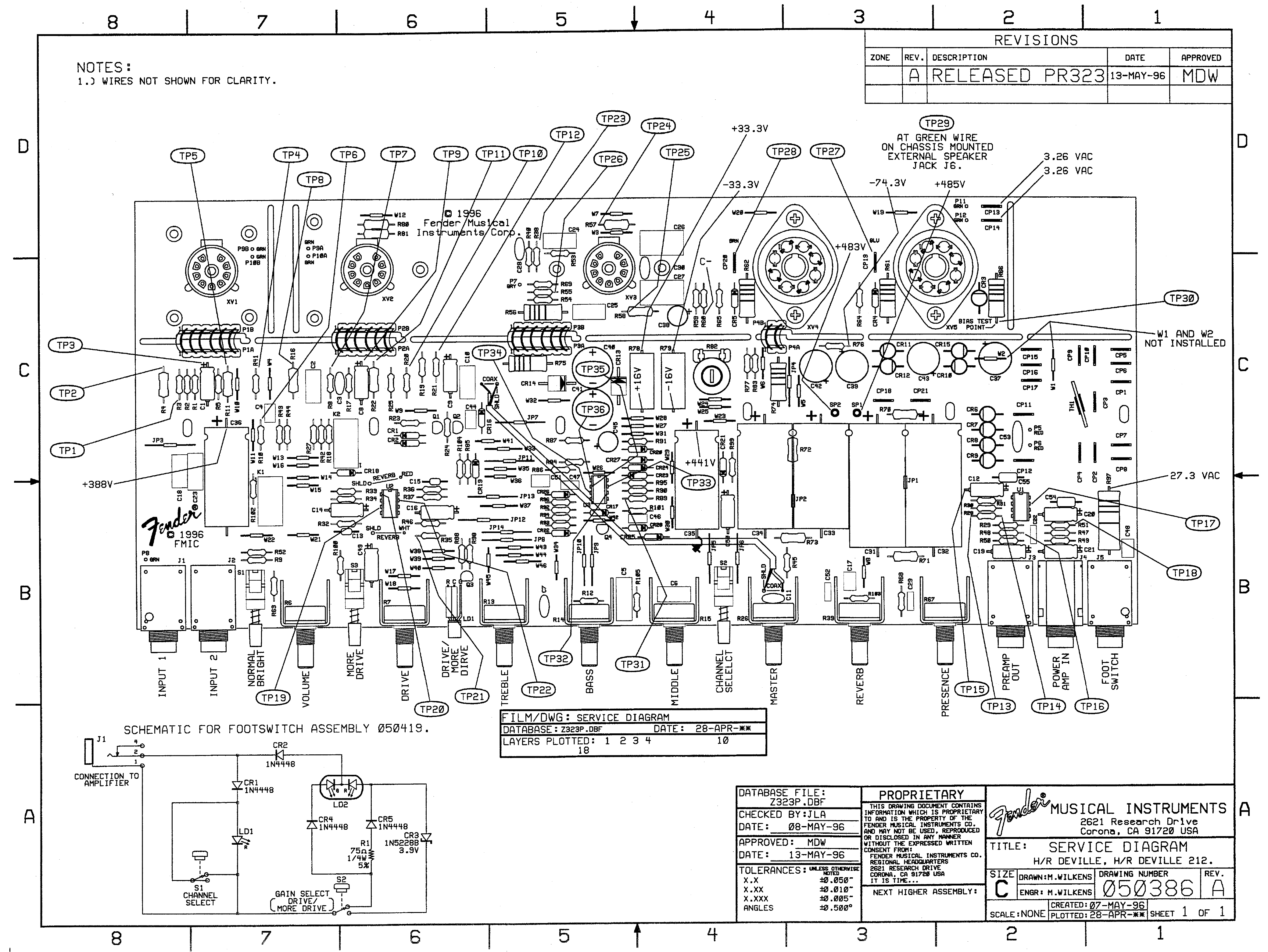 fender amp schematic diagrams