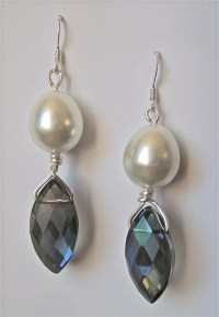 Pearl Drop Briolette Earrings | AllFreeJewelryMaking.com