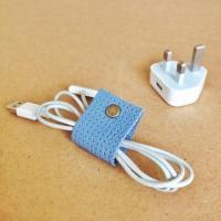 Leather DIY Cable Organizer | DIYIdeaCenter.com