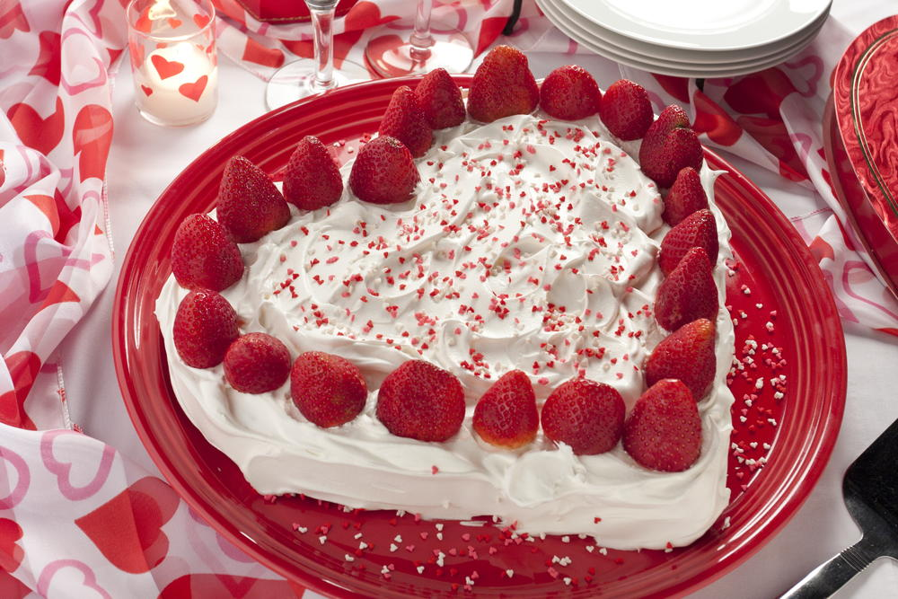 Cute Happy Valentines Day Wallpaper 2015 Strawberry Sweetheart Cake Mrfood Com