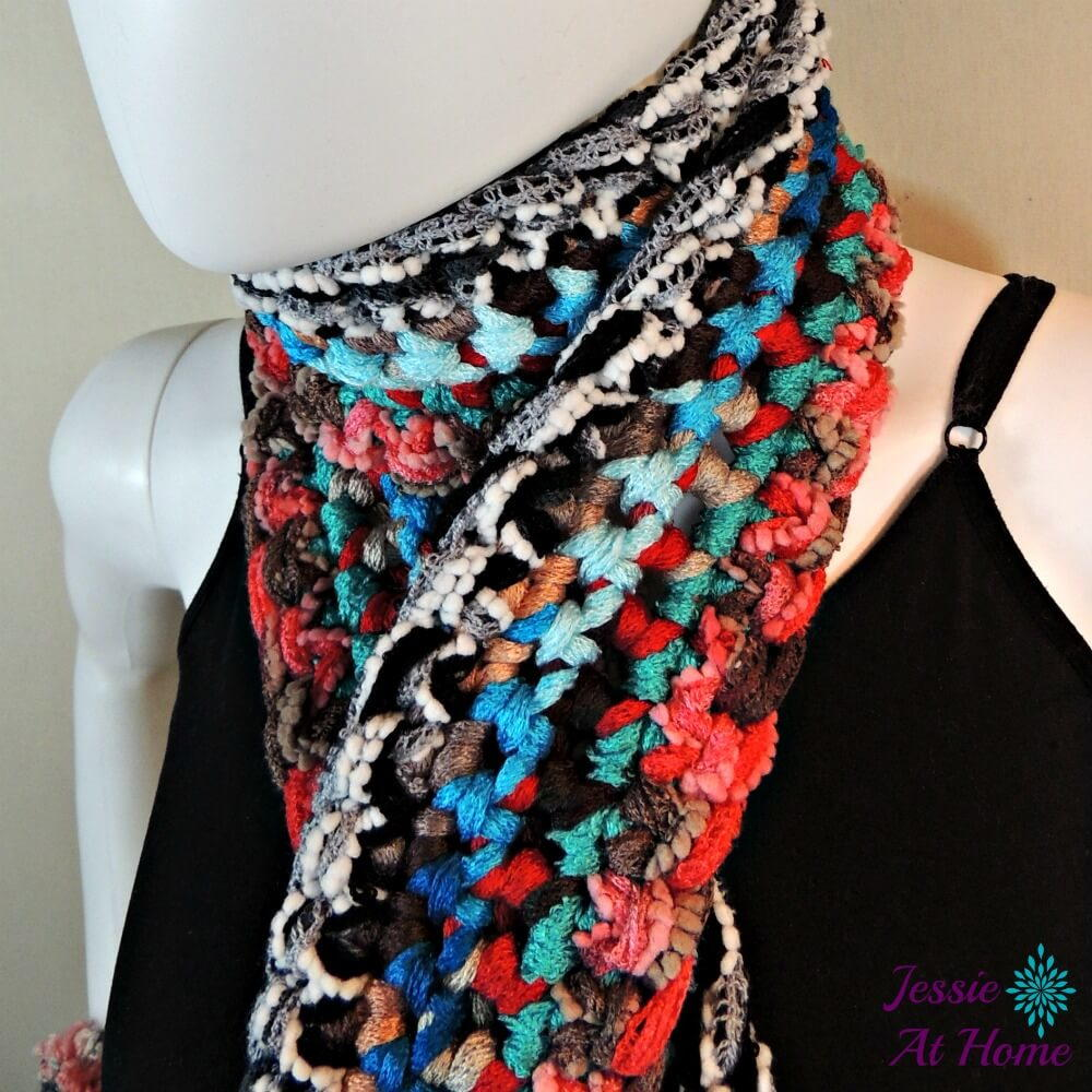 Beautiful Bohemian Crochet Scarf