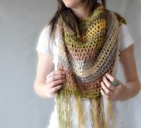Boho Light Crochet Shawl | AllFreeCrochet.com