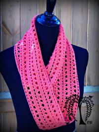 Spring Kisses Infinity Scarf | AllFreeCrochet.com