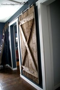 Rustic Hanging DIY Barn Door | DIYIdeaCenter.com