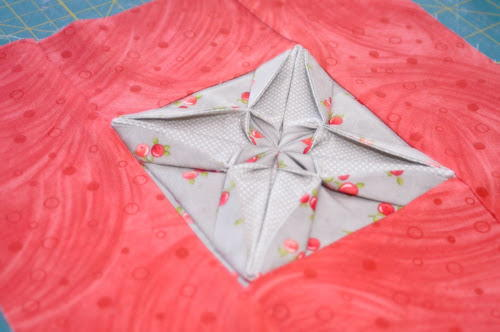 Flower Bed Designs Fabric Origami Quilt Block | Favequilts.com