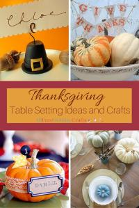 Thanksgiving Table Setting Ideas and Crafts ...