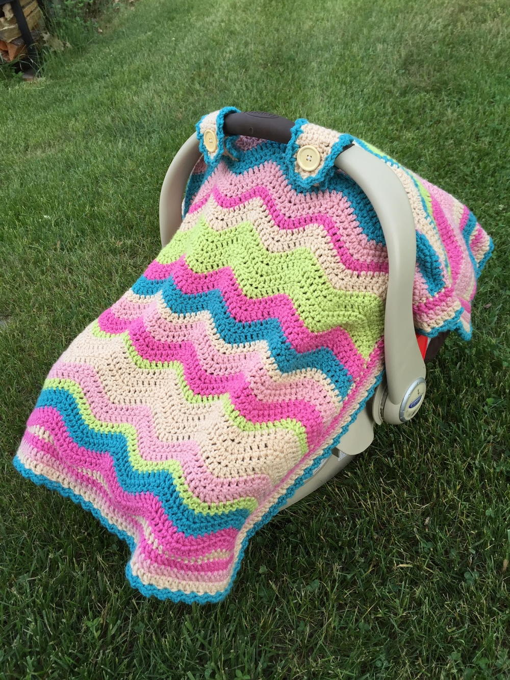 Baby Car Seat Blanket Free Pattern Crochet Ripple Car Seat Cover Allfreecrochet