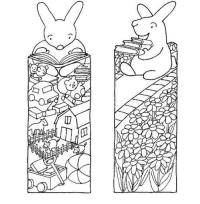 Little Bunny Printable Bookmarks to Color ...