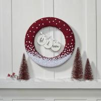 Let It Snow Wreath | FaveCrafts.com