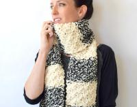 Winter Nights Easy Knit Scarf | FaveCrafts.com