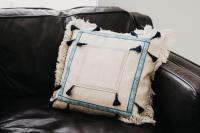 Tassel Pillow with Trim | FaveCrafts.com
