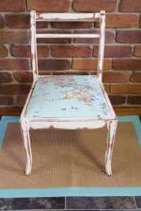 Shabby Chic Map Chair Before & After Makeover - I Restore ...