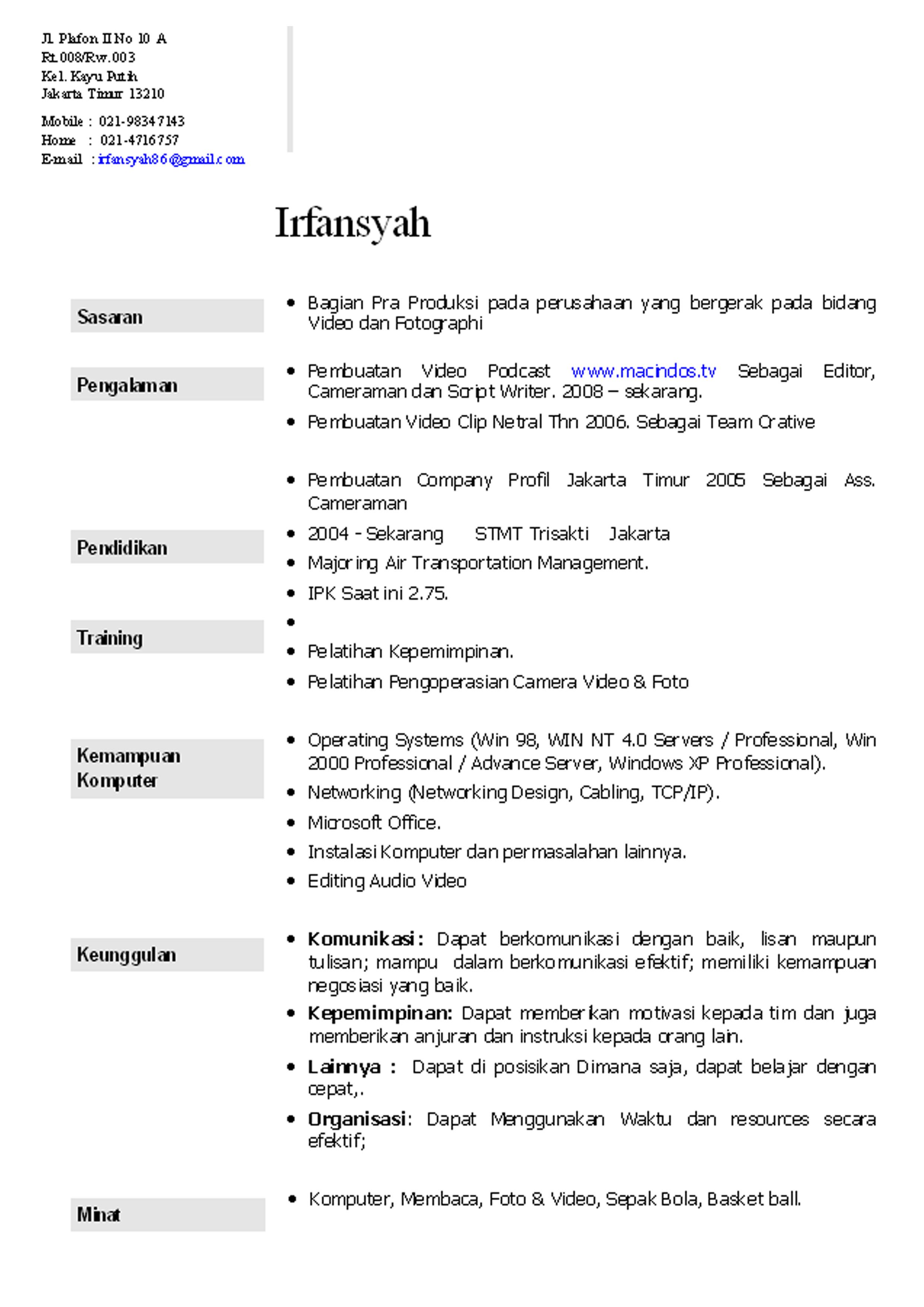 Contoh Cover Letter Bahasa Inggris Untuk Bank   Cover Letter Templates contoh application letter bahasa indonesia writefiction    web
