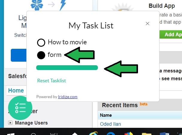 Task List / Onboarding Widget \u2013 Iridize Knowledge Base