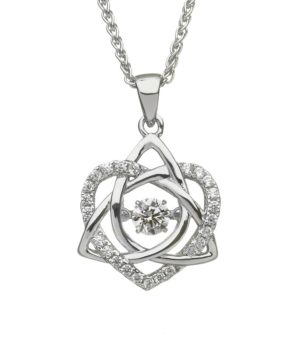 Celtic Trinity & Heart necklace