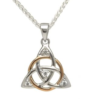 Intertwined Trinity Knot Necklace