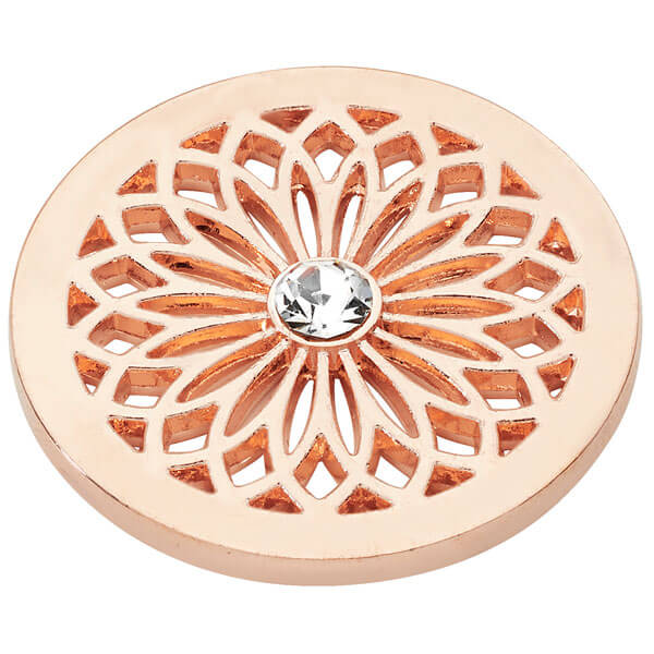 Flower Coin - Rose Gold plated