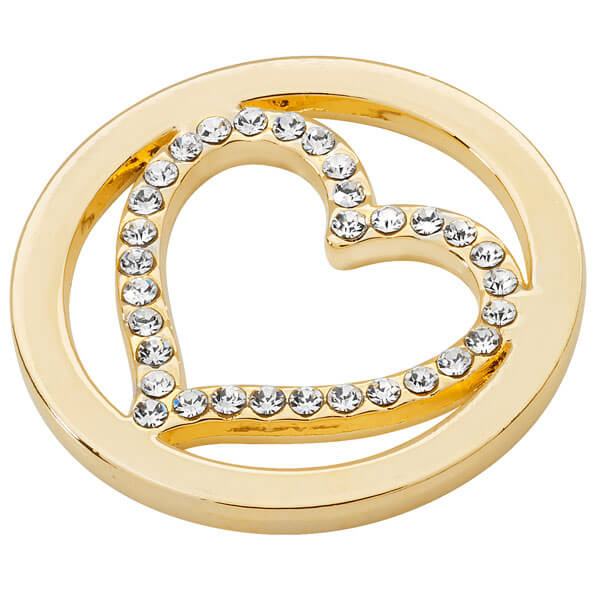 Heart Coin - Yellow Gold plated