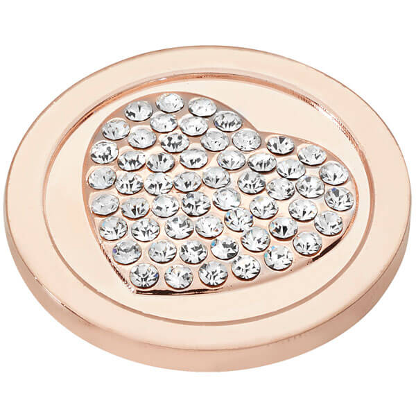 Heart of diamonds coin - Rose Gold plated