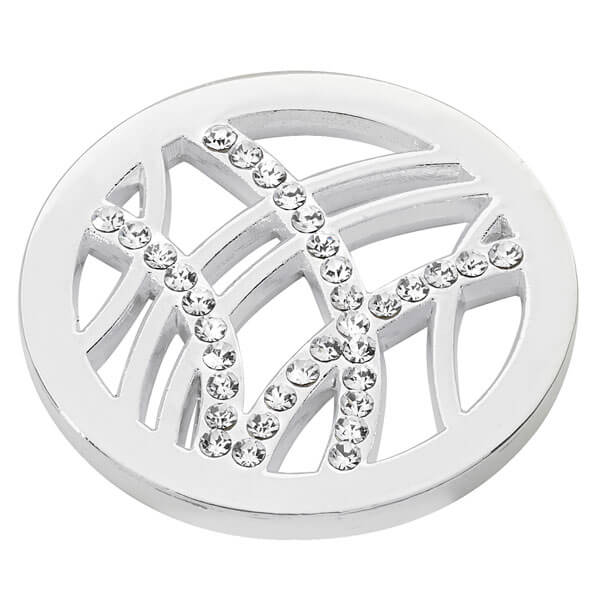 Linear Design coin - Silver plated