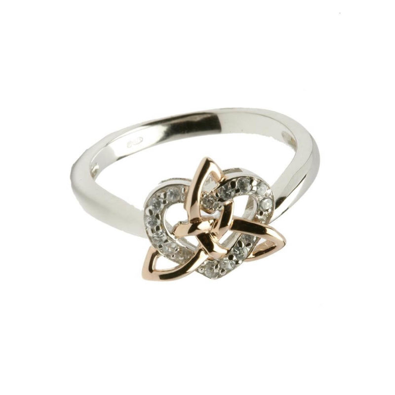 Trinity Knot with Heart ring