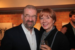 Ronan Hardiman and Helen Brickley at the exhibition opening (photo Liam Madden)
