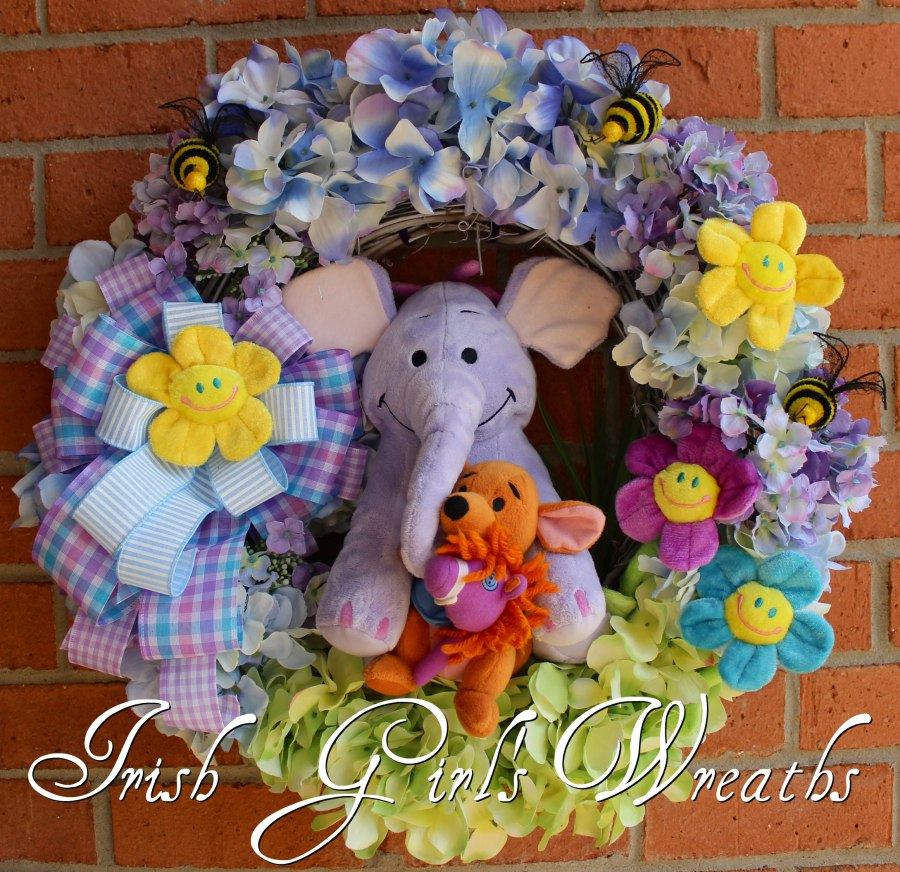Heffalump and Roo Best Friends Wreath