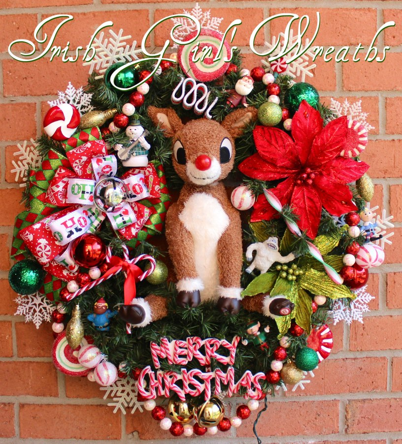 Deluxe Rudolph the Red-Nosed Reindeer Wreath